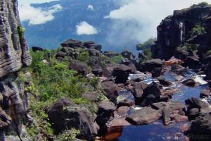 vrcholek nejvyššího vodopádu světa