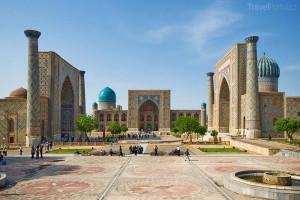 náměstí Registán Samarkand