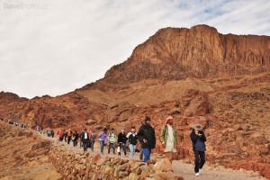 poutníci hora Sinaj