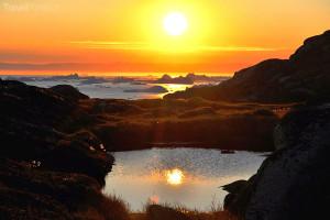 půlnoční slunce Grónsko