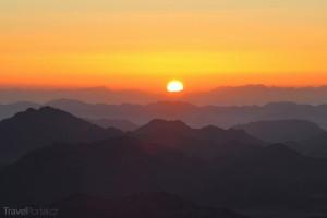 západ Slunce Hora svaté Kateřiny Sinaj