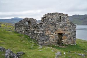 trosky kostela v Grónsku