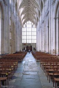 interiér katedrály ve Winchesteru