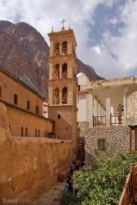zvonice kláštera na Hoře svaté Kateřiny