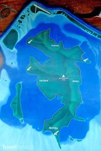 mapa Bora Bora