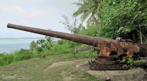 dělo na Bora Bora