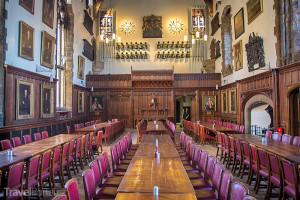 interiér hradu v Durhamu
