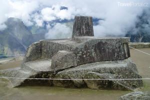 posvátný rituální kámen Machu Picchu