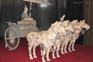 koňský povoz terakota