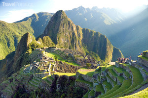 letecký záběr na Machu Picchu