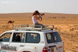 Ljuba Krbová fotografuje v Tunisku
