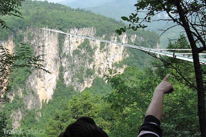Zhangjiajie Grand Canyon Glass Bridge v Číně