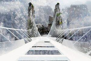 Zhangjiajie Grand Canyon Glass Bridge vizualizace