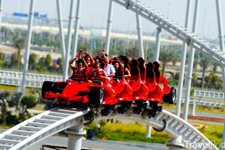 horská dráha Formula Rossa v Abú Dhabí