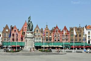 náměstí Markt ve městě Bruggy