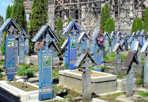 Veselý hřbitov v Rumunsku
