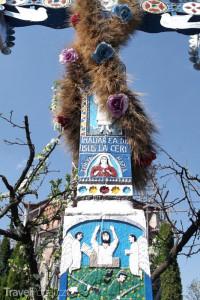 kříž na Veselém hřbitově v Rumunsku