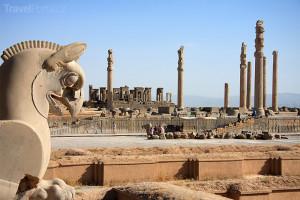 město Persepolis v íránské provincii Fárs