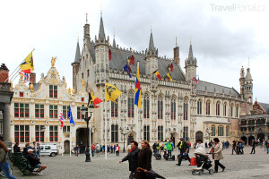 radnice ve městě Bruggy