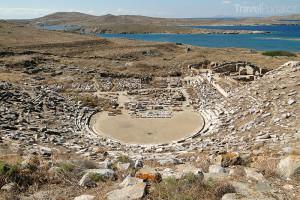 antické divadlo Délos