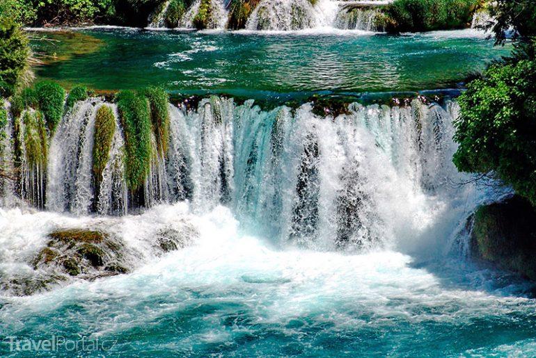 peřeje na řece Krka