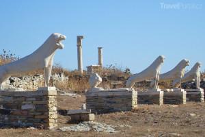 Terasa devíti lvů Délos