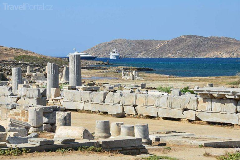 památky na ostrově Délos