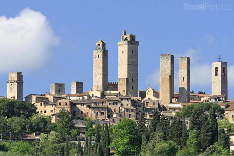 San Gimignano Toskánsko