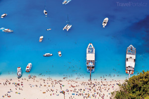pláž na ostrově Zakynthos