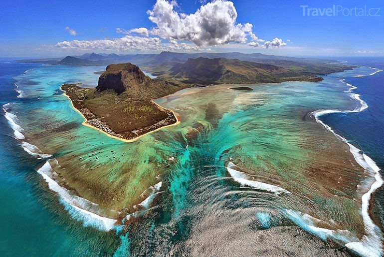 podmořský vodopád Mauricius