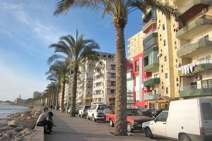 nová část města Týros v Libanonu