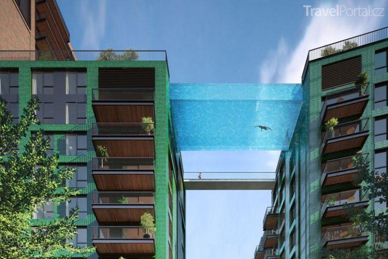 létající bazén Sky Pool vizualizace