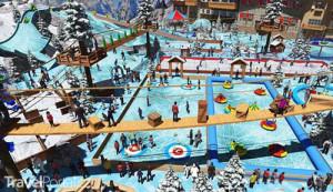 lyžařské středisko Palm Mall Muscat vizualizace