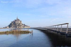 Mont Saint Michel v Normandii