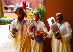hudebníci v Marrakéši