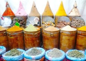 koření na Jemaa el-Fna