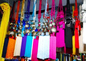 sortiment v tkalcovství ve Fezu