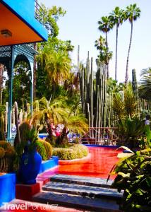 zahrady Majorelle v Marrakéši