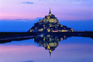 Mont Saint Michel večer