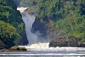 vodopády v Ugandě