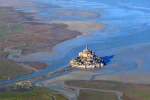 Mont Saint Michel z letadla