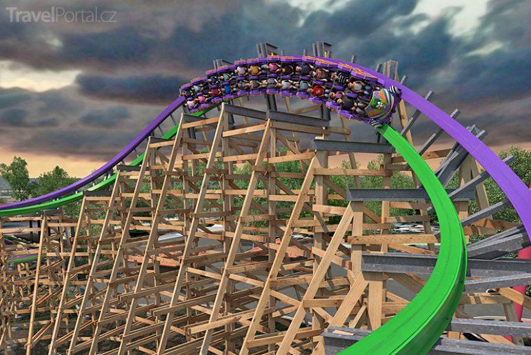 horská dráha Joker vizualizace