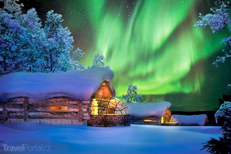 Nejzajímavější hotely světa: Kakslauttanen Finsko