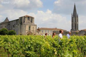 prohlídka vinic v Saint-Emilion
