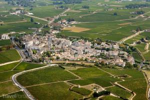Saint-Emilion z výšky