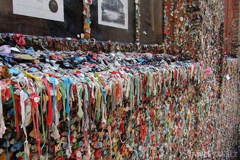 Žvýkačková zeď v Seattlu