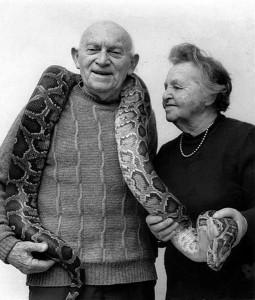 Aharon Šulov s manželkou Jochebed