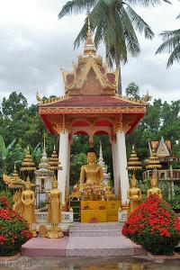 socha Buddhy v Laosu