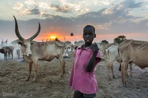pastevec v Súdánu