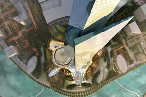 mrakodrap Kingdom Tower vizualizace